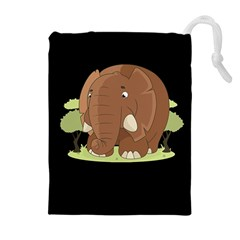 Cute Elephant Drawstring Pouches (extra Large)