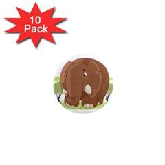 Cute Elephant 1  Mini Magnet (10 Pack)