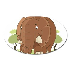 Cute Elephant Oval Magnet