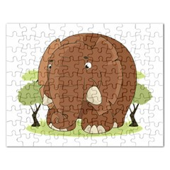 Cute Elephant Rectangular Jigsaw Puzzl
