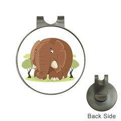 Cute Elephant Hat Clips With Golf Markers