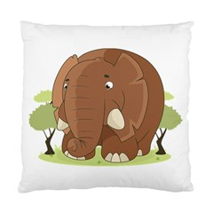 Cute Elephant Standard Cushion Case (two Sides)