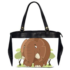 Cute Elephant Office Handbags (2 Sides)