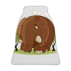 Cute Elephant Bell Ornament (two Sides)
