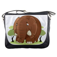 Cute Elephant Messenger Bags