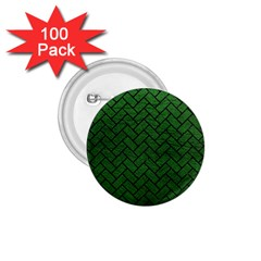 Brick2 Black Marble & Green Leather (r) 1 75  Buttons (100 Pack)