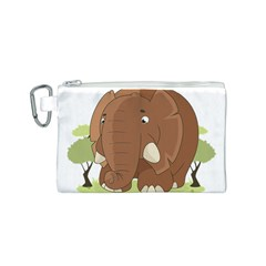 Cute Elephant Canvas Cosmetic Bag (s)