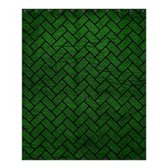 Brick2 Black Marble & Green Leather (r) Shower Curtain 60  X 72  (medium)
