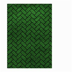 Brick2 Black Marble & Green Leather (r) Small Garden Flag (two Sides)