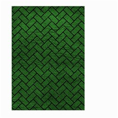 Brick2 Black Marble & Green Leather (r) Large Garden Flag (two Sides)