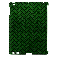 Brick2 Black Marble & Green Leather (r) Apple Ipad 3/4 Hardshell Case (compatible With Smart Cover)