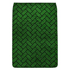 Brick2 Black Marble & Green Leather (r) Flap Covers (l)