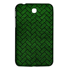 Brick2 Black Marble & Green Leather (r) Samsung Galaxy Tab 3 (7 ) P3200 Hardshell Case