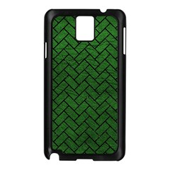 Brick2 Black Marble & Green Leather (r) Samsung Galaxy Note 3 N9005 Case (black)