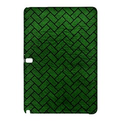 Brick2 Black Marble & Green Leather (r) Samsung Galaxy Tab Pro 12 2 Hardshell Case
