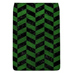 Chevron1 Black Marble & Green Leather Flap Covers (s)