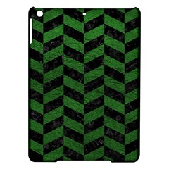 Chevron1 Black Marble & Green Leather Ipad Air Hardshell Cases