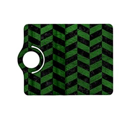 Chevron1 Black Marble & Green Leather Kindle Fire Hd (2013) Flip 360 Case
