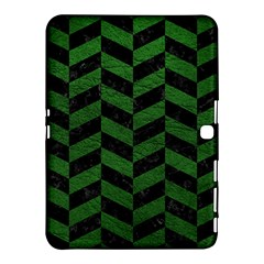 Chevron1 Black Marble & Green Leather Samsung Galaxy Tab 4 (10 1 ) Hardshell Case