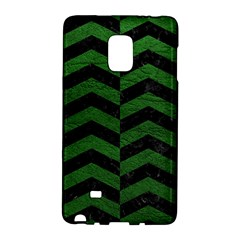 Chevron2 Black Marble & Green Leather Galaxy Note Edge