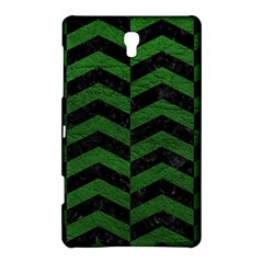 Chevron2 Black Marble & Green Leather Samsung Galaxy Tab S (8 4 ) Hardshell Case