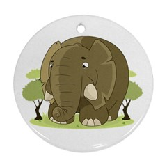 Cute Elephant Ornament (round)