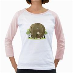 Cute Elephant Girly Raglans