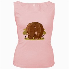 Cute Elephant Women s Pink Tank Top
