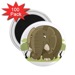Cute Elephant 2 25  Magnets (100 Pack)