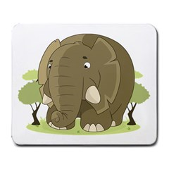 Cute Elephant Large Mousepads
