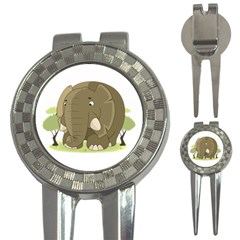 Cute Elephant 3 In 1 Golf Divots