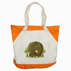 Cute Elephant Accent Tote Bag