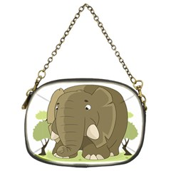 Cute Elephant Chain Purses (two Sides)
