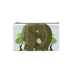 Cute Elephant Cosmetic Bag (small)