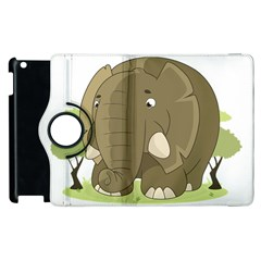 Cute Elephant Apple Ipad 3/4 Flip 360 Case