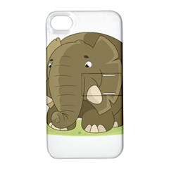 Cute Elephant Apple Iphone 4/4s Hardshell Case With Stand
