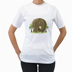 Cute Elephant Women s T Shirt (white)