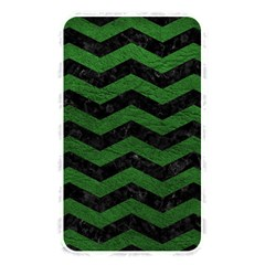 Chevron3 Black Marble & Green Leather Memory Card Reader