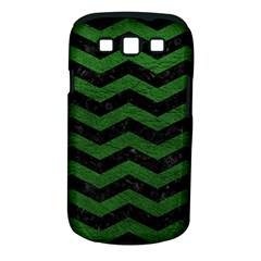 Chevron3 Black Marble & Green Leather Samsung Galaxy S Iii Classic Hardshell Case (pc+silicone)