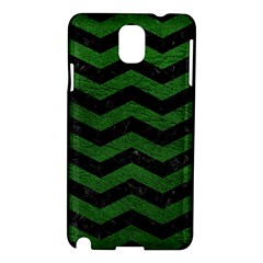 Chevron3 Black Marble & Green Leather Samsung Galaxy Note 3 N9005 Hardshell Case