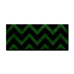 Chevron9 Black Marble & Green Leather Cosmetic Storage Cases