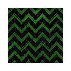 Chevron9 Black Marble & Green Leather Acrylic Tangram Puzzle (6  X 6 )