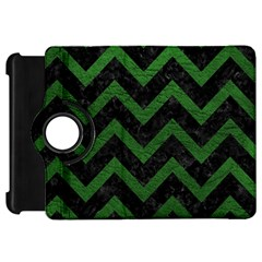 Chevron9 Black Marble & Green Leather Kindle Fire Hd 7