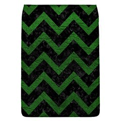 Chevron9 Black Marble & Green Leather Flap Covers (s)