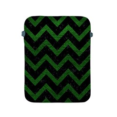 Chevron9 Black Marble & Green Leather Apple Ipad 2/3/4 Protective Soft Cases