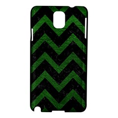 Chevron9 Black Marble & Green Leather Samsung Galaxy Note 3 N9005 Hardshell Case