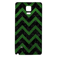 Chevron9 Black Marble & Green Leather Galaxy Note 4 Back Case