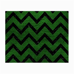 Chevron9 Black Marble & Green Leather (r) Small Glasses Cloth (2 Side)
