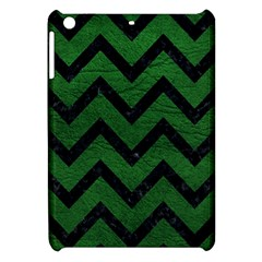 Chevron9 Black Marble & Green Leather (r) Apple Ipad Mini Hardshell Case