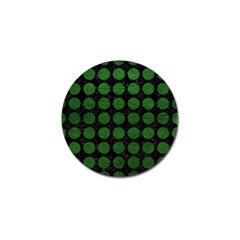 Circles1 Black Marble & Green Leather Golf Ball Marker (10 Pack)